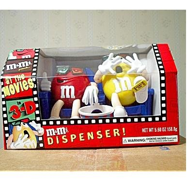 Official M&M's Dispenser At the Movies in 3-D LIMITED EDITION Collectible