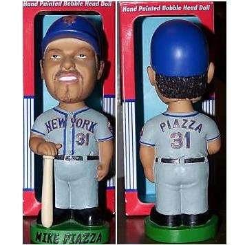Mike Piazza New York Mets bobblehead doll Genuine Hand Painted Bobble Dobble Head Doll