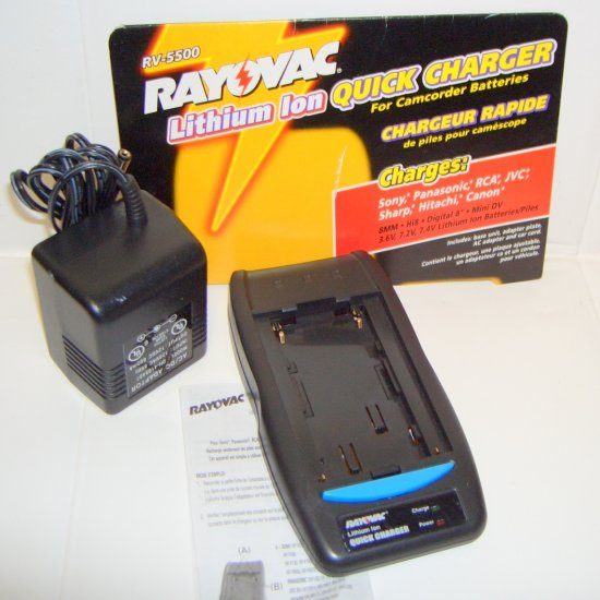 Rayovac Lithium Ion Quick Charger for Camcorder Batteries