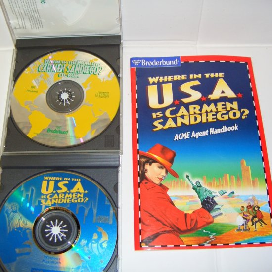 Where in the World / Where in the USA is Carmen Sandiego CD-Rom