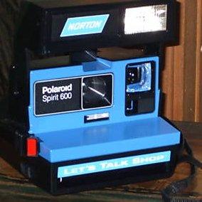 RARE Polaroid Camera 600 film Norton ad. Let's Talk The Spirit 600