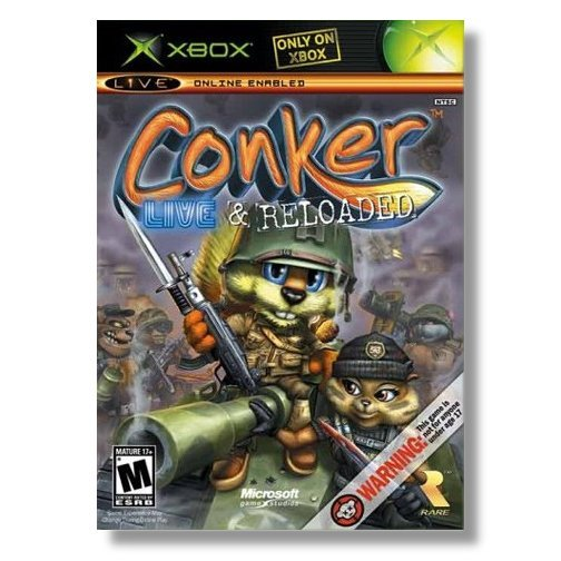 Conker Live &  Reloaded Xbox & 360 Complete NEW