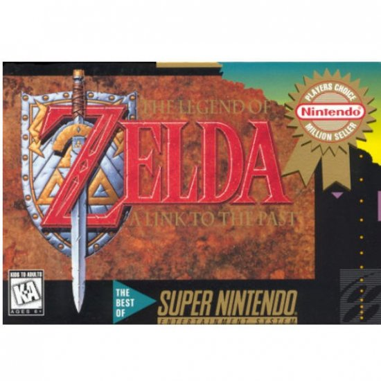 The Legend of Zelda  A Link to the Past Players Choice Million Seller Super Nintendo Game