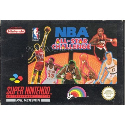 NBA ALLSTAR CHALLENGE Super Nintendo Game