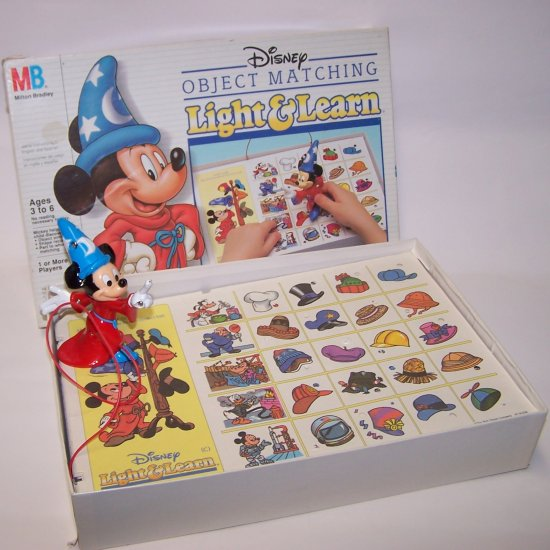 Vintage Disney Object Matching Light & Learn Game