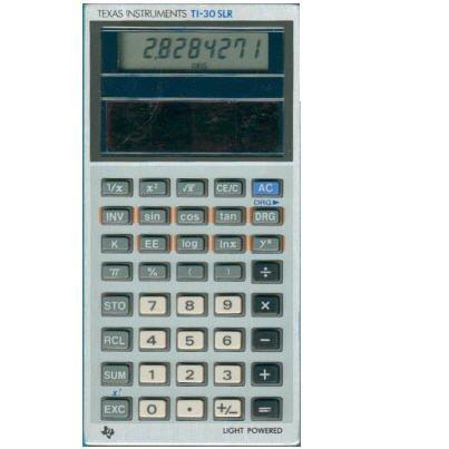 Texas Instruments TI-30 SLR Solar Scientific Calculator