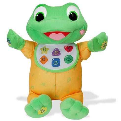 LeapFrog Hug & Learn Baby Tad Plush with musical notes on jumper