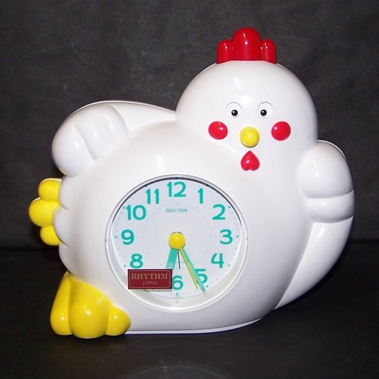 VINTAGE RARE Chicken Annoying Rock & Rhythm Alarm Clock
