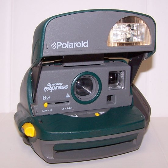 Polaroid One Step Express Instant 600 Camera, Hunter Green with Bag