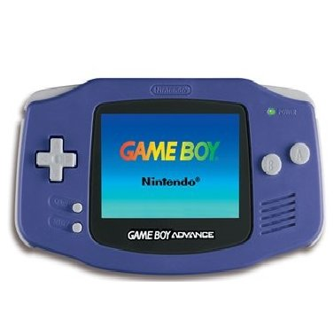 Nintendo - GBA Game Boy Advance  Blue Handheld Video Game System 2001 GBA AGB-001