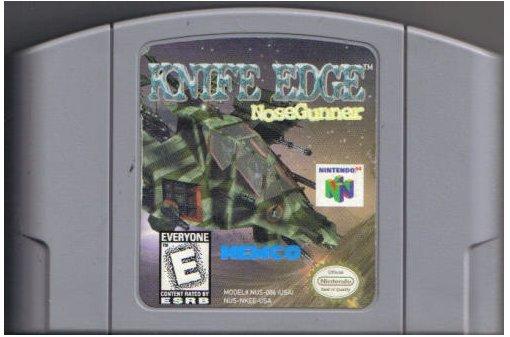 Knife Edge Nose Gunner N64 Nintendo 64 Game Cartridge