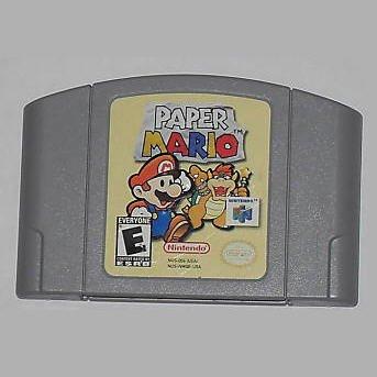 Paper Mario N64 Nintendo 64 Game Cartridge