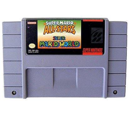 Super Mario World & Super Mario AllStars - 2 Game Cartridge  Super Nintendo Game