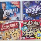 Jeopardy 2nd Edition - Scrabble complete - Boggle - SuDoku Master CDrom games