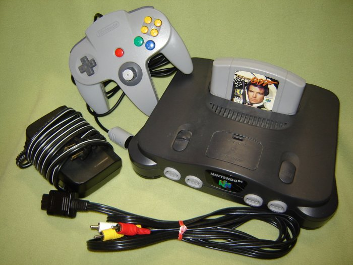Nintendo 64 System  Video Game Console  N64 wih game