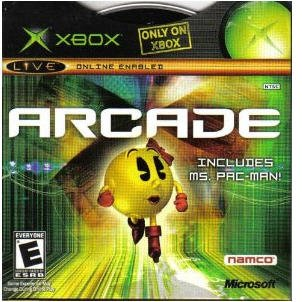Xbox Arcade, Includes Ms. Pacman, Xbox Live Online Enabled Games Xbox Complete