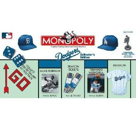 Dodgers Baseball Collector's Edition Monopoly Board Game by Parker Brothers / USAopoly
