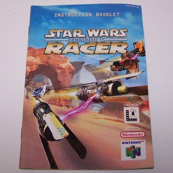Star Wars Racers Episode 1 Original Instruction Manual for Nintendo N64