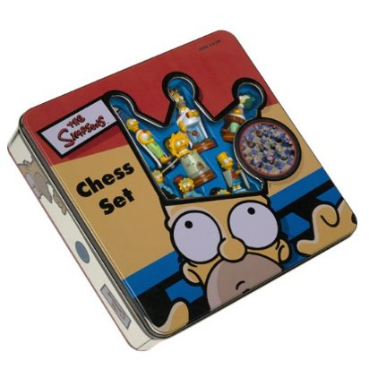 The Simpsons Chess Set in Nice Collectible Tin