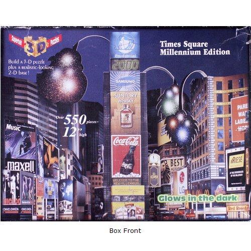 3D Times Square, Millennium Edition Puzzle 550 pieces unconfirmed