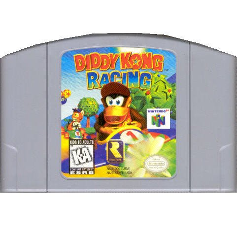 Diddy Kong Racing Game Cartridge  N64 Nintendo 64
