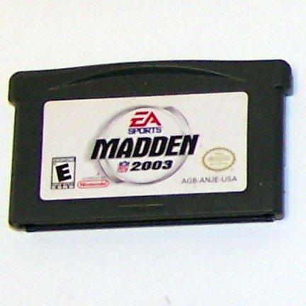Madden NFL 2003 Nintendo Game boy Advance cartridge
