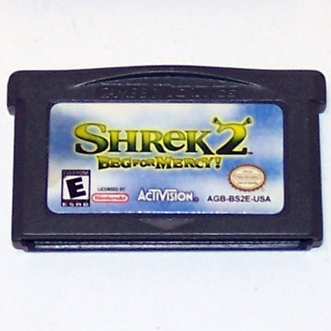 Shrek 2 Beg for Mercy Nintendo Game boy Advance cartridge