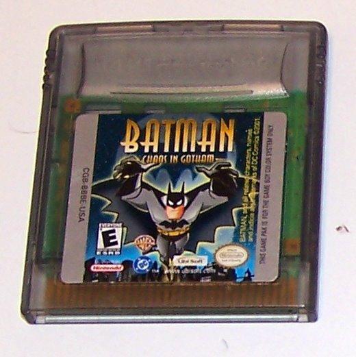 Batman Chaos in Gotham Nintendo Game boy Color cartridge