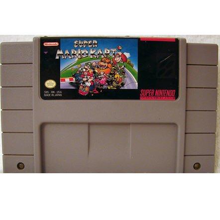 Super Mario Kart Super Nintendo Game Cartridge