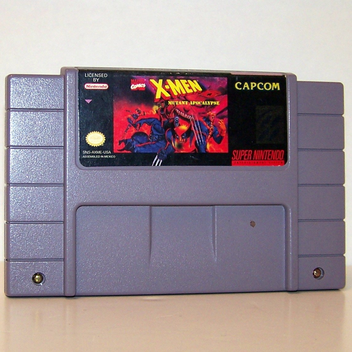 X-Men Mutant Apocalypse Super Nintendo Game Cartridge