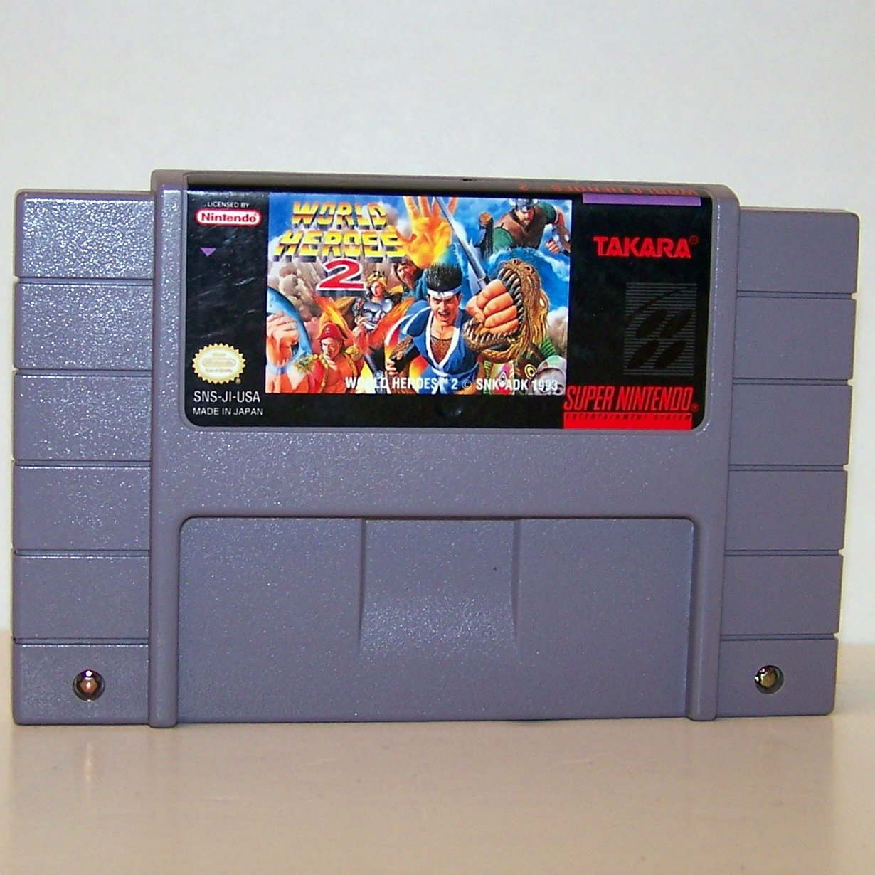 World Heroes 2 Super Nintendo Game Cartridge