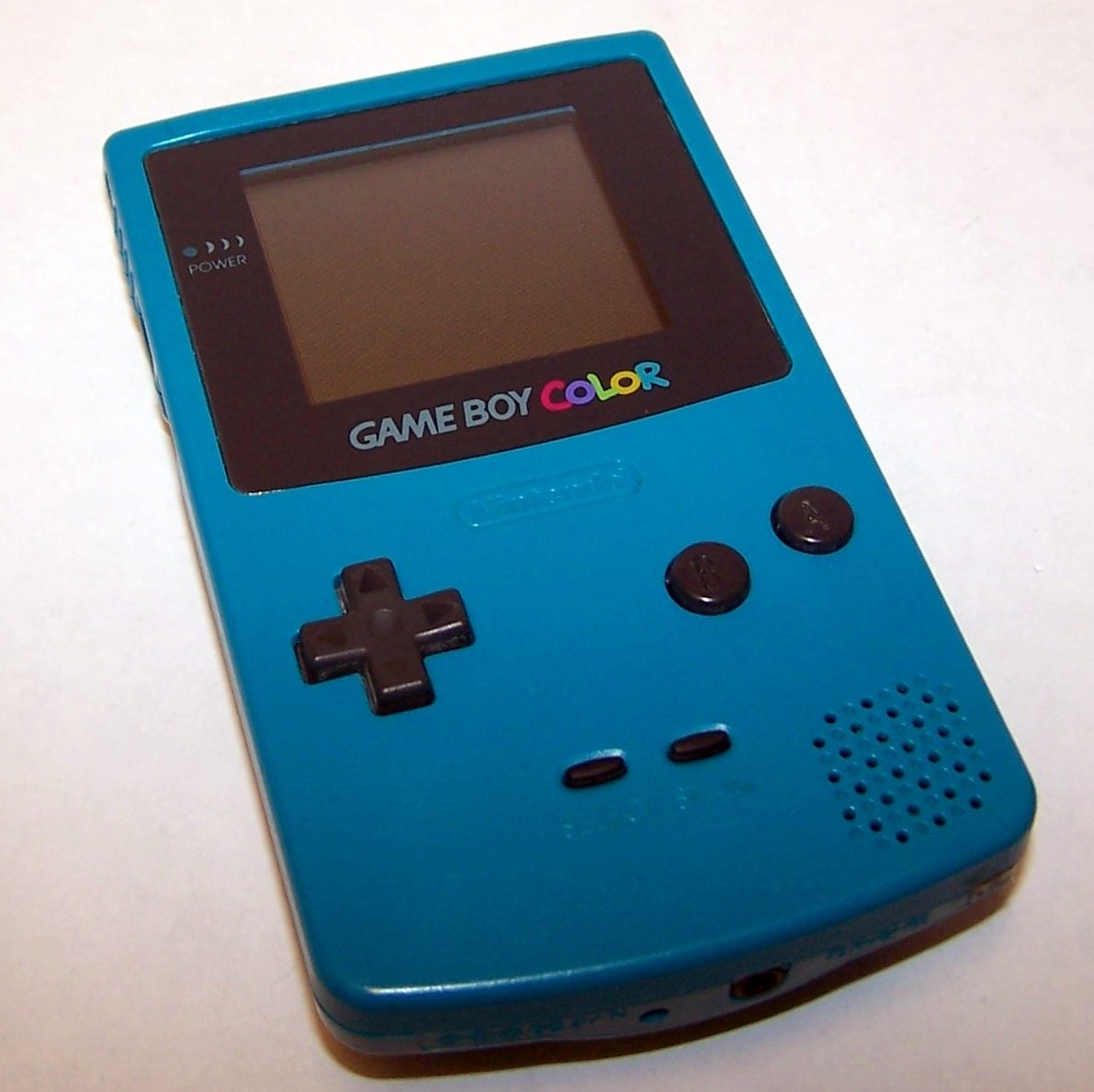 Nintendo Game Boy Color - Handheld game system with Game - Teal blue