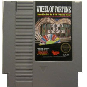 Wheel of Fortune Original 8-bit Nintendo NES Game Cartridge with Instructions