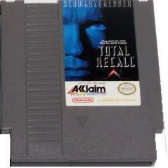 Total Recall Original 8-bit Nintendo NES Game Cartridge