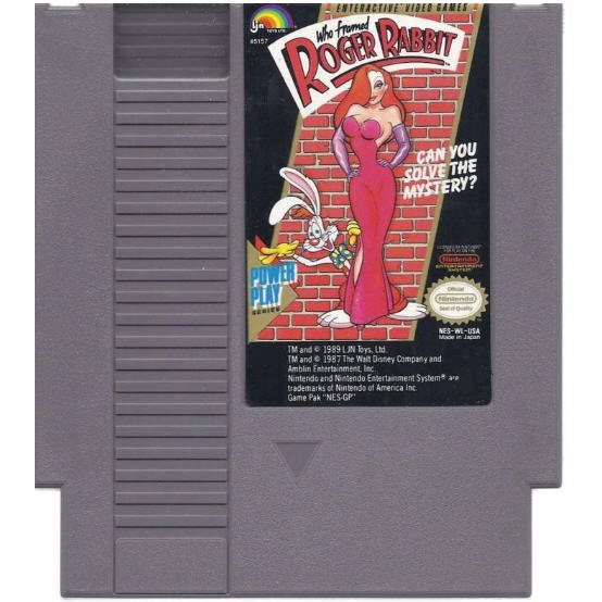 Who Framed Roger Rabbit Original 8-bit Nintendo NES Game Cartridge with Instructions
