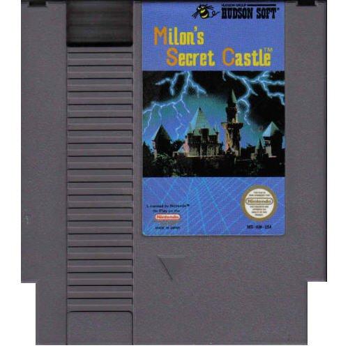 Milon's Secret Castle ~ Original 8-bit Nintendo NES Game Cartridge