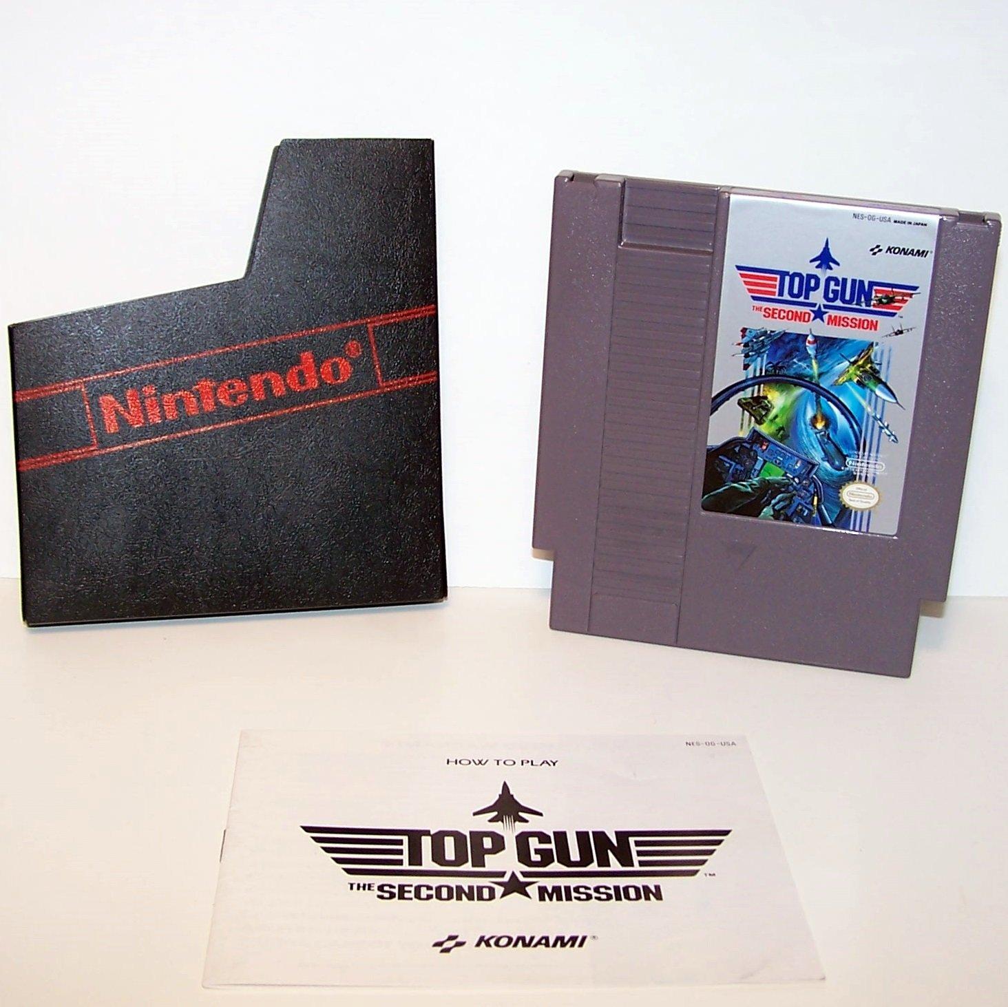 TOP GUN Second Mission ~ Original 8-bit Nintendo NES Game Cartridge with instructions
