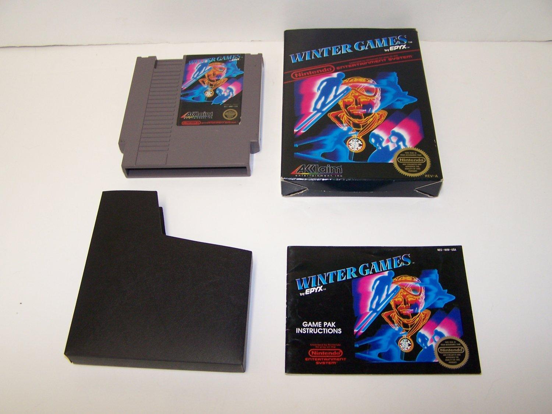 WINTER GAMES  Original 8-bit Nintendo NES Game Cartridge COMPLETE RESEALED