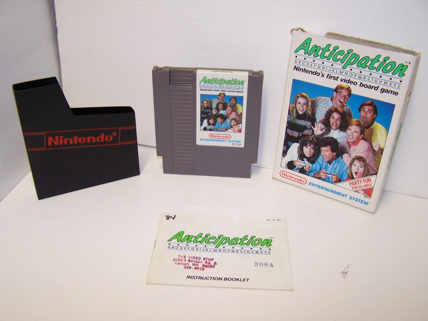 Anticipation Original 8-bit Nintendo NES Game Cartridge Complete