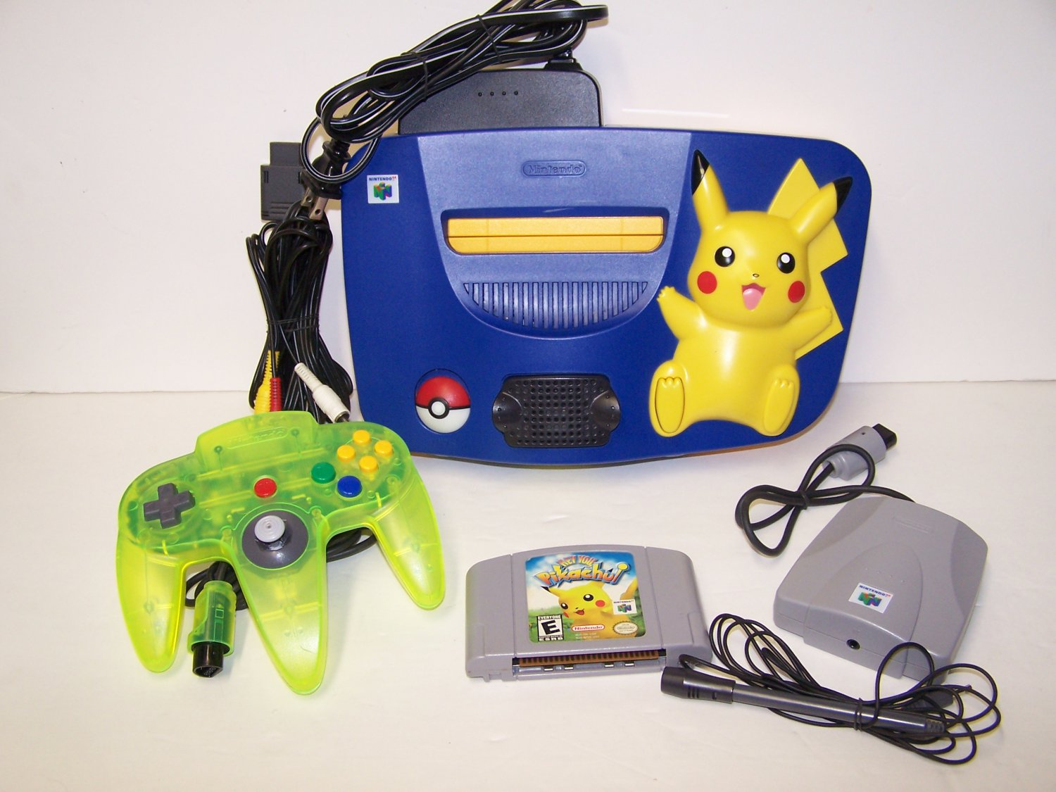 Pikachu Nintendo 64 System - Video Game Console Plus Hey You Pikachu game