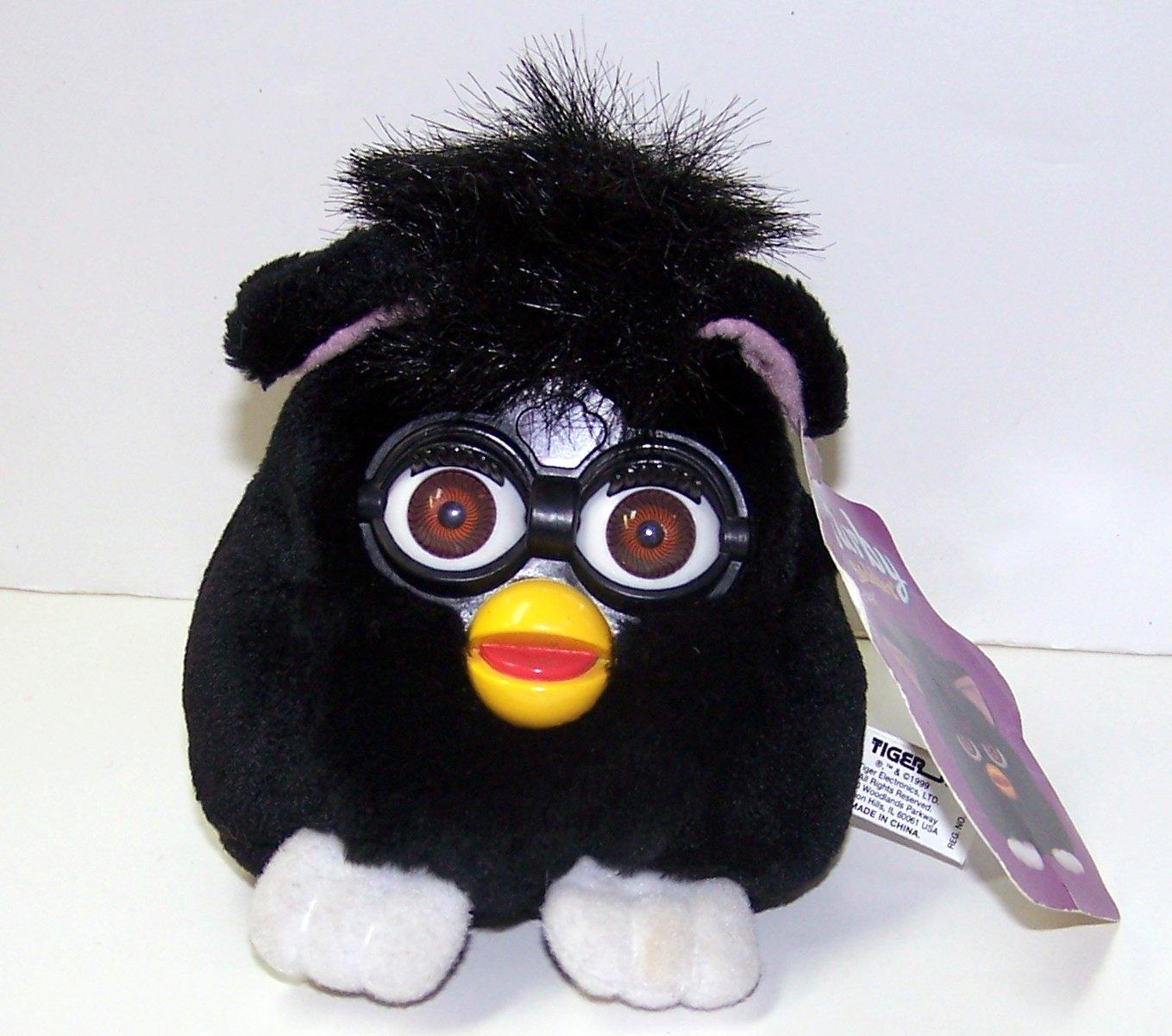 Furby Buddies - Non-talking Black with white feet BROWN Eyes