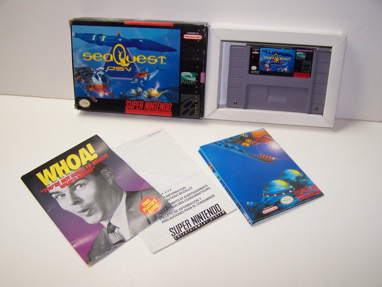 SEAQUEST DSV Super Nintendo Game