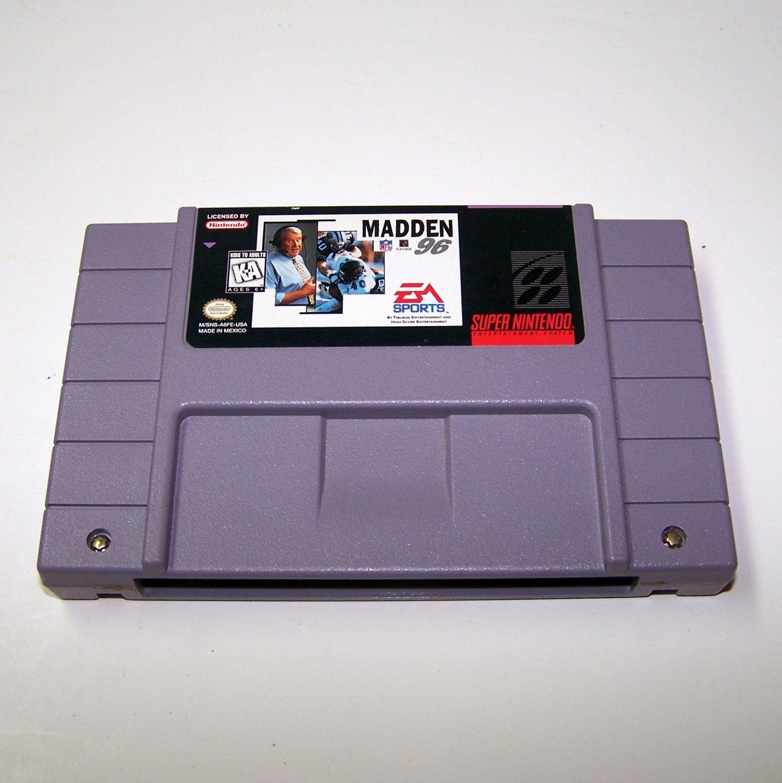 Madden 96 Game Cartridge ~ Super Nintendo Game