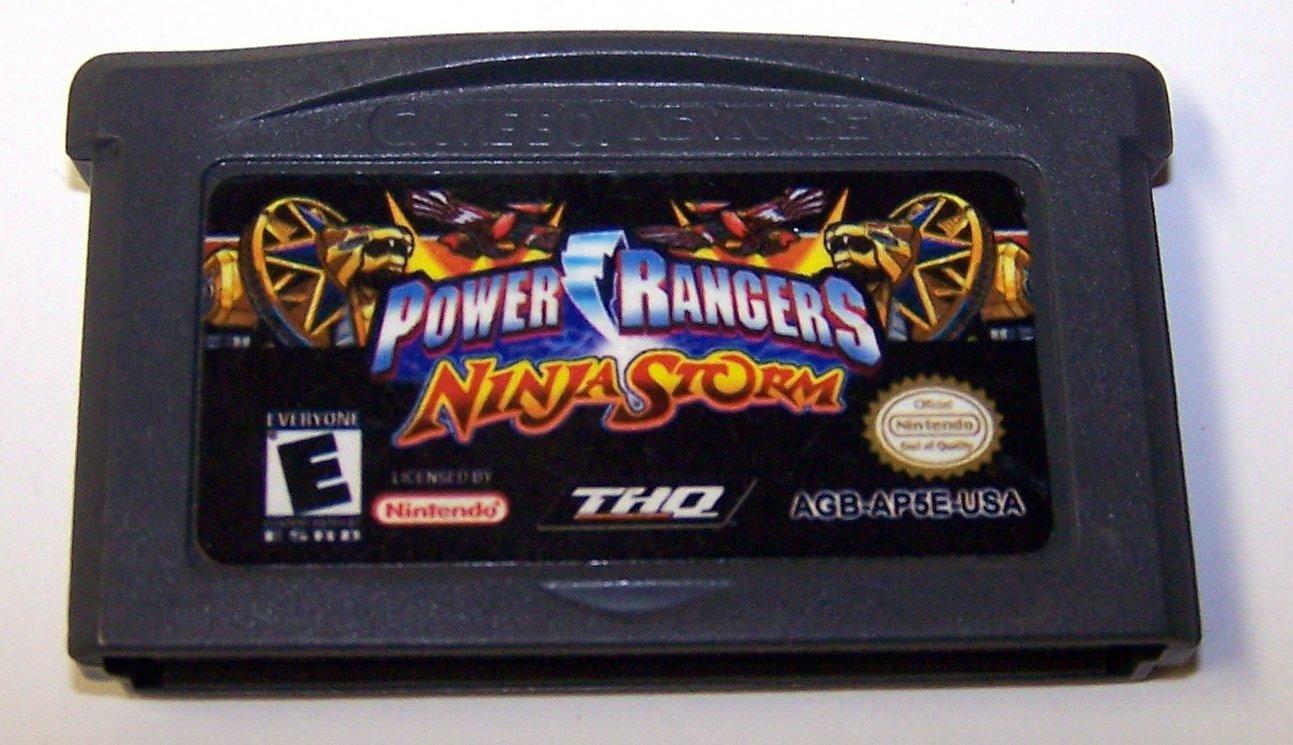 Power Rangers Ninja Storm Game boy Advance cartridge