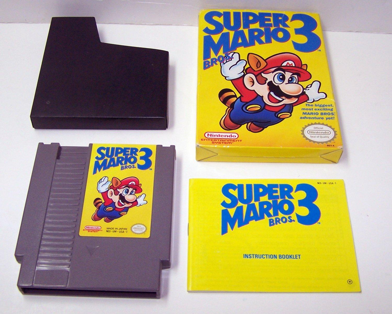 SUPER MARIO BROS 3 Original 8-bit Nintendo NES Game Cartridge Complete