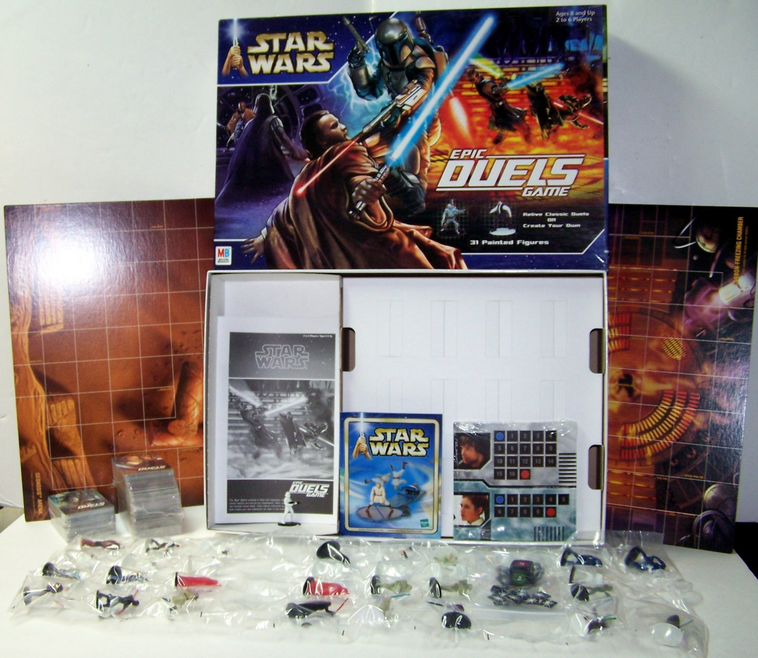 STAR WARS Epic Duels Game 31 PAINTED FIGURES  Milton Bradley