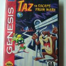 Taz Escape from Mars Sega Genesis Game COMPLETE