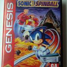 Sonic the Hedgehog Spinball Sega Genesis Game COMPLETE