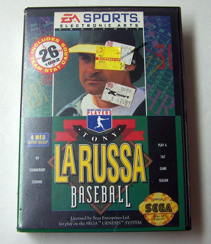 Tony LaRussa Baseball Sega Genesis Game COMPLETE