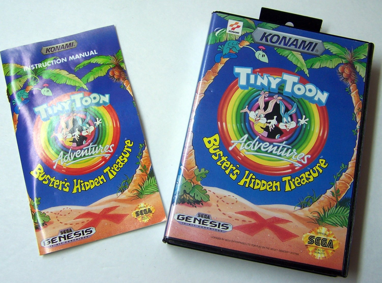 Tiny Toon Adventures Sega Genesis Game COMPLETE